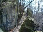 trasa naučné stezky Slánská hora