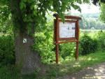 informační panel naučné stezky Zahrady